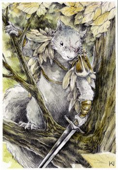 Mouse Guard Squirrel by Kaos-Nest
