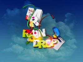 raindrop wallpaper by dyefish