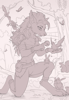 Worgen Druid (Sketch) by Yakovlev-vad
