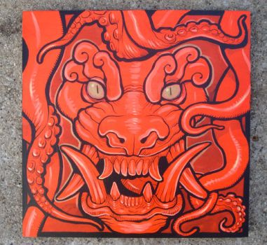 Fire Demon original painting by missmonster
