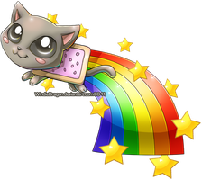 Nyan Cat Chibi by WindieDragon