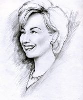 Hillary Rodham Clinton sketch by leiaskywalker83