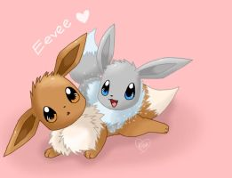Eevee Twin by BluuKiss