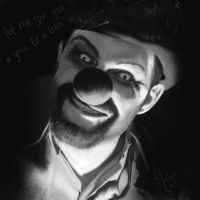 The Devil's Carnival: Hobo Clown by MisScribbler