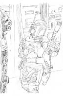 Robot Chicken Han Solo and Boba Fett by Frisbeegod