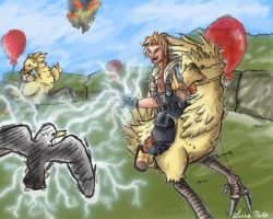 This is how you race a Chocobo by Spidersaiyan