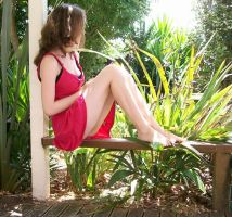 Coral Dress, Outside Stock 05 by Elaweasel
