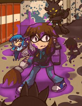 [FOR x Splatoon]  This isnt a normal Turf War by FerniAngel