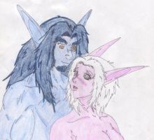 Kulserion and Linnadhiel - True Love by Zaltheran