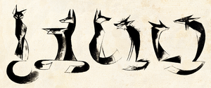 Foxes by Skia