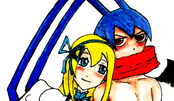 Flonne and Laharl (Close-Up) by danceljoy