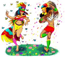 Dance of the Twin Gods by GNZG