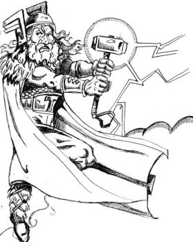 Thor Sketch by Phinmagic