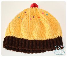 Yellow Cupcake Beret 2 by moofestgirl