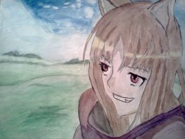 Watercolor: Spice and Wolf by Hysvear