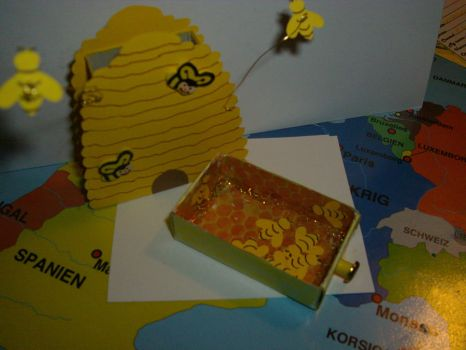 Bee Hive Matchbox by Moosecastle