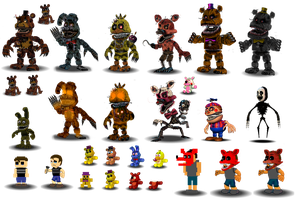 Fnaf 4 Characters Canon by Educraft