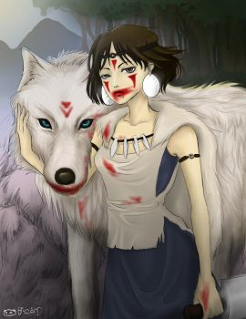 Princess Mononoke by mingkuriboo