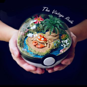 Poke Ball Terrarium - Krabby Vacation by TheVintageRealm