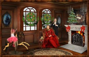 Family Christmas Portrait by artistic-touches