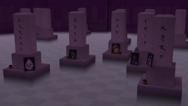 Lavender Town Cementery 3D render for Sharkness by HaizeaShepard