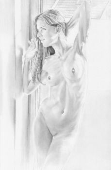 Drawing of a nude, photo by czaba57 by stevie-wydder