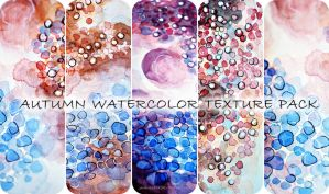 Autumn watercolor texture pack by jane-beata