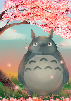 Commission: Totoro by bresych