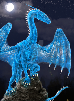 Saphira from the Book. by EloiseS16