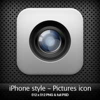 iPhone style - Pictures icon by YaroManzarek