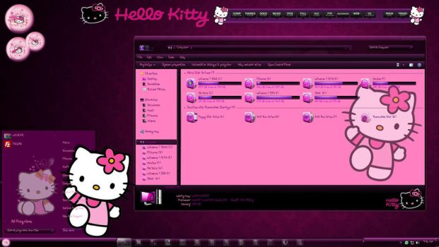 Hello Kitty Windows 7 Theme by TheBull1
