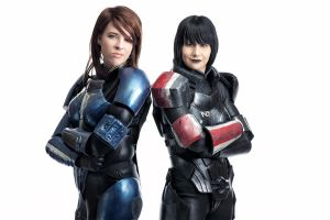 Shepard and Ashley by commanderholly