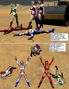 Squish Comic Teen Fire Frost vs The Dolls by TheBadLieutenant