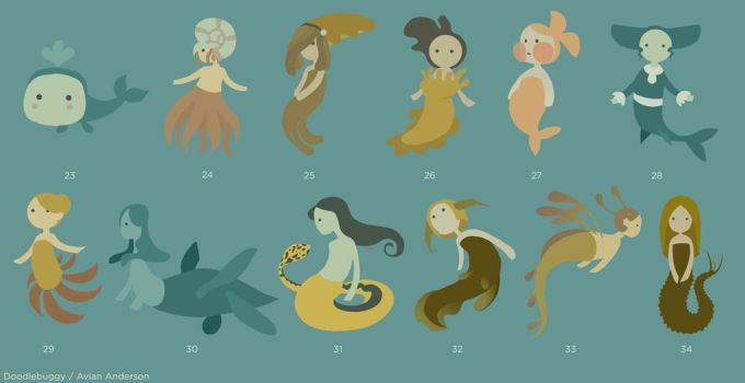 Mermaid Concepts 3 by DoodleBuggy