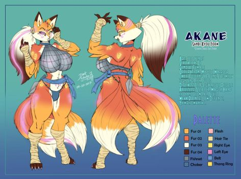 [Commission] Akane Refference Form 2 by DarkShadow7777