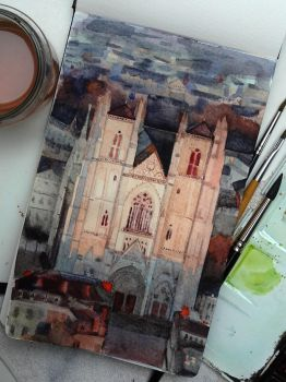 Nantes cathedral by claratessier