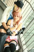 Snow and Serah by SenninUzumaki