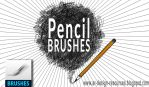 Pencil Brushes by FakeFebruary