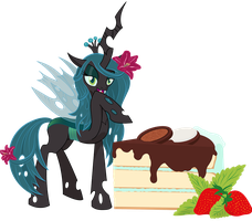 Food Series: Chrysalis - Black Peppermint Cake by StargazeSchrecken1