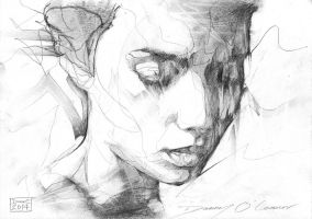 Portrait Drawing Graphite on Paper by ART-BY-DOC