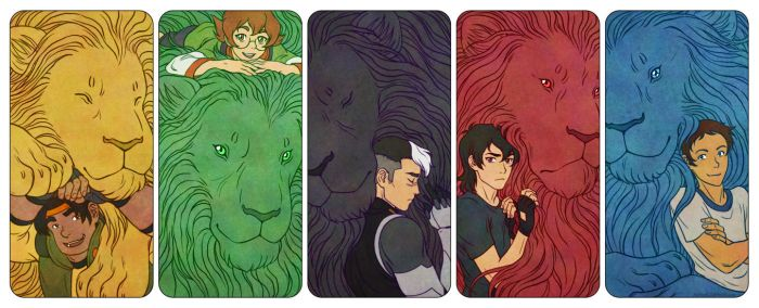 Voltron Paladins and their Lions by Eldanis