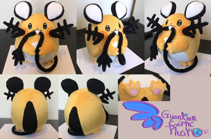 Dedenne Pokemon Plush  9.5''