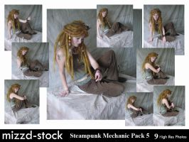 Steampunk Mechanic Pack 5 by mizzd-stock