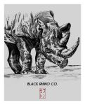 Rhino - Black Rhino Co. T-shirt Design by JackSephton