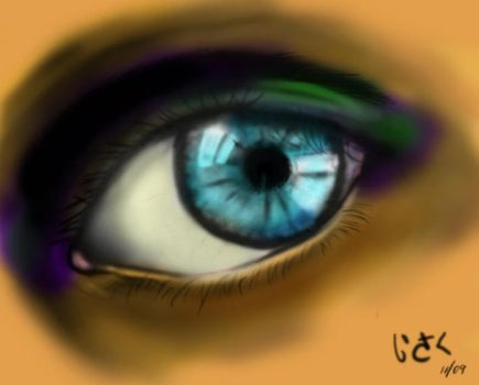 Colored eye by Cortes2k