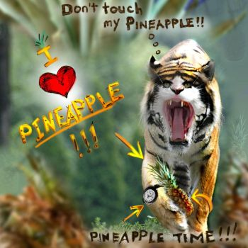 I Love Pineapple Rawr by greyorm