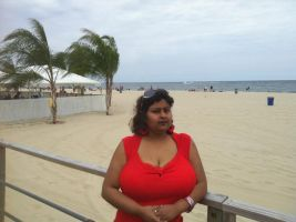 Bengali Huge Boobs in Red Top by BoobsDoctor