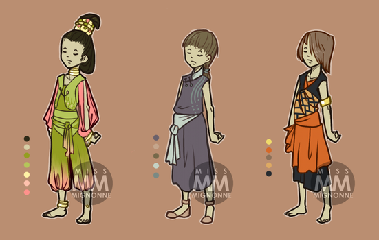 :OPEN: Outfit Adoptables 10 by MissMignonne