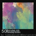 50 Watercolour-Style brushes. by sammywasabi