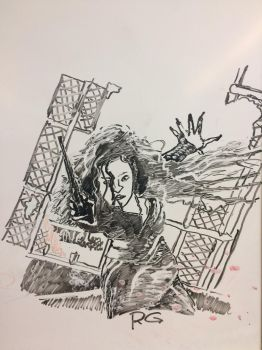 Bellatrix Lestrange Whiteboard Drawing by Rogo2002